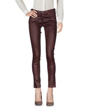 Повседневные брюки AG JEANS. Цвет: баклажанный