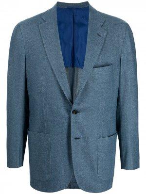 Однобортный пиджак Kiton. Цвет: синий