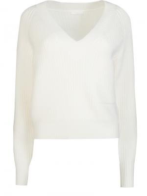 Шерстяной пуловер Chloe. Цвет: белый