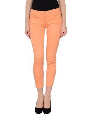 Джинсовые брюки-капри MOTHER. Цвет: оранжевый
