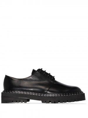 Туфли дерби Maglie с контрастной строчкой ATP Atelier. Цвет: черный