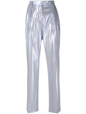 Блестящие строгие брюки Alberta Ferretti