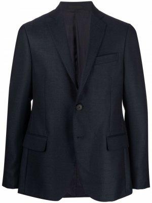 Однобортный пиджак Pal Zileri. Цвет: синий