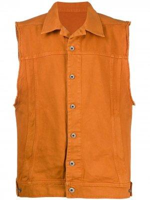 Джинсовый жилет Rick Owens DRKSHDW. Цвет: оранжевый
