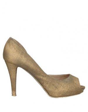 Туфли SGN GIANCARLO PAOLI. Цвет: бронзовый