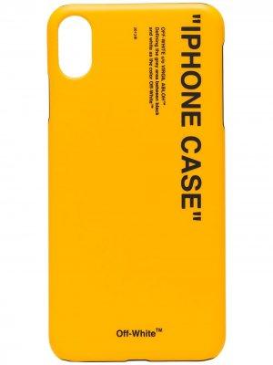 Чехол для iPhone XS с надписью Off-White