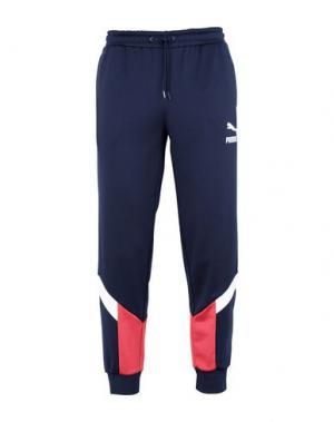 Повседневные брюки PUMA. Цвет: темно-синий