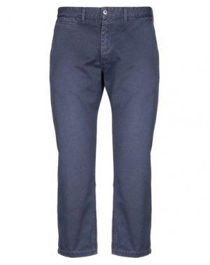 Повседневные брюки KURO. Цвет: грифельно-синий