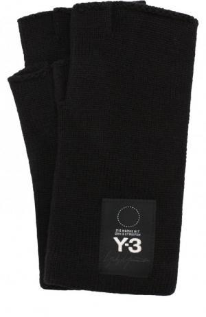 Шерстяные перчатки Y-3. Цвет: черный