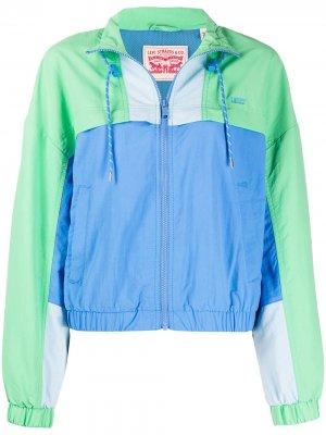 Levis куртка в стиле колор-блок Levi's. Цвет: зеленый