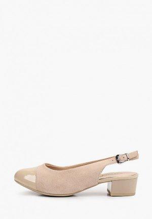 Туфли Caprice Увеличенная полнота, Comfort. Цвет: бежевый