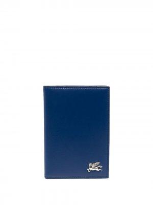 Складной кошелек ETRO. Цвет: синий