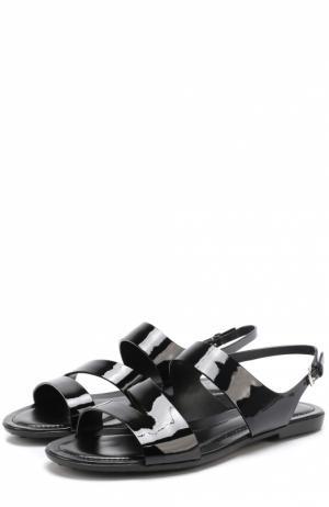 Кожаные сандалии Tod's. Цвет: чёрный