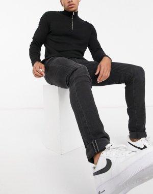 Черные выбеленные джинсы-скинни -Черный American Eagle