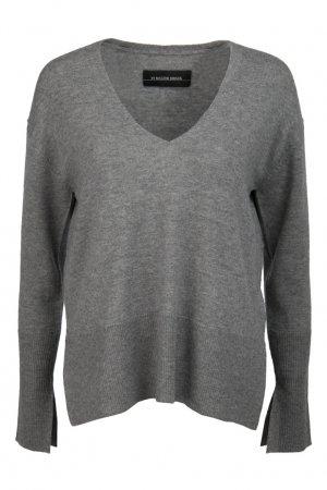 Шерстяной пуловер By Malene Birger. Цвет: серый