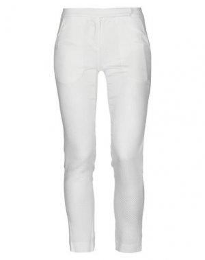Повседневные брюки ANDREA TURCHI. Цвет: слоновая кость