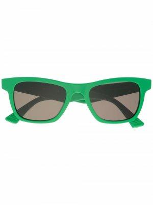Солнцезащитные очки в квадратной оправе Bottega Veneta Eyewear. Цвет: зеленый