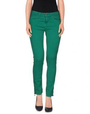 Джинсовые брюки ACQUAVERDE. Цвет: зеленый