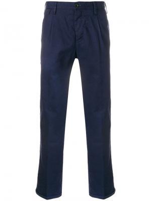 Укороченные брюки чинос Pt01. Цвет: синий