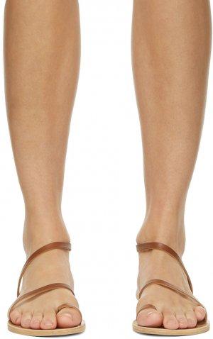 SSENSE Exclusive Brown Apli Eleftheria Sandals Ancient Greek. Цвет: cotto