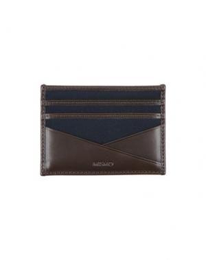 Бумажник MISMO. Цвет: темно-коричневый