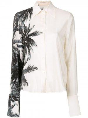 Рубашка с принтом Ermanno Scervino. Цвет: белый