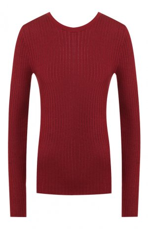 Шелковый пуловер Loro Piana. Цвет: бордовый