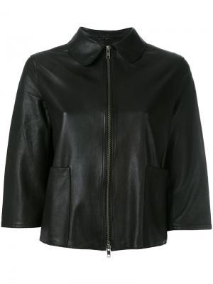 Укороченная кожаная куртка Impact S.W.O.R.D 6.6.44. Цвет: чёрный