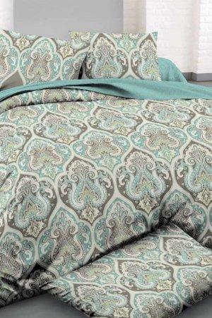 Постельное белье ЕВРО, 70х70 Fantasy. Цвет: зеленый