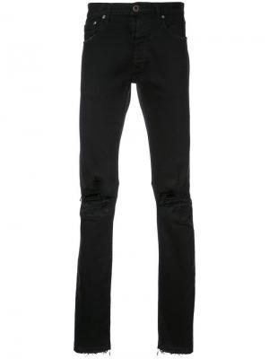 Рваные джинсы узкого кроя Unravel Project