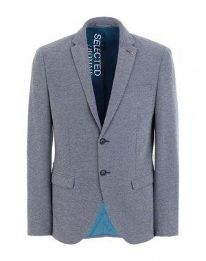 Пиджак SELECTED HOMME. Цвет: грифельно-синий