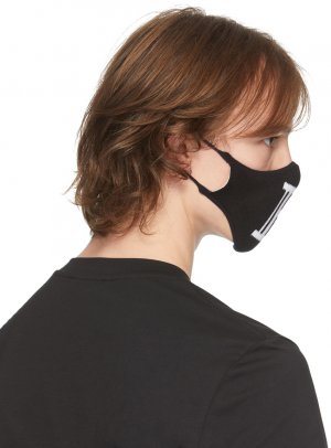 Black Knit Logo Mask Balmain. Цвет: opa noir
