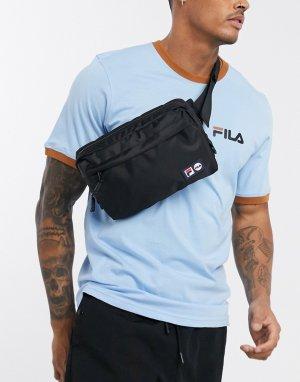 Черная сумка-кошелек на пояс с двойным логотипом Harl-Черный Fila