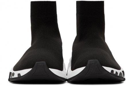 Black Graffiti Speed Sneakers Balenciaga. Цвет: 1015 blkwht