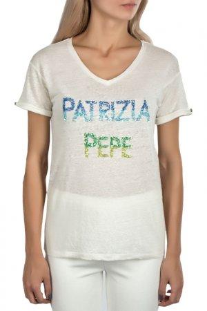 Футболка Patrizia Pepe. Цвет: белый