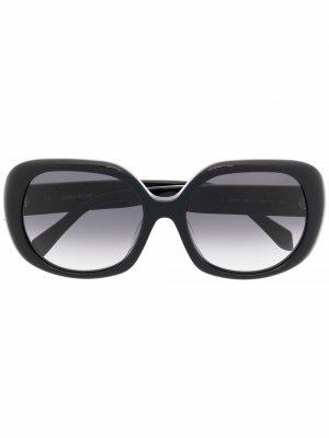Солнцезащитные очки в массивной оправе Zadig&Voltaire. Цвет: черный