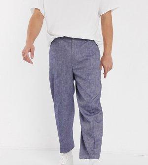 Широкие джинсовые брюки в строгом стиле -Темно-синий Noak