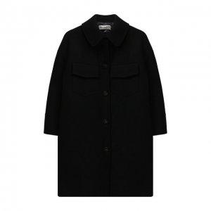 Шерстяное пальто Simonetta. Цвет: чёрный