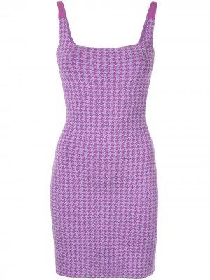 Платье в ломаную клетку Nagnata. Цвет: фиолетовый