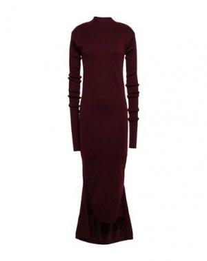 Длинное платье AQUILANO-RIMONDI. Цвет: баклажанный