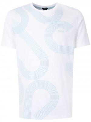 HUGO 50427829 100 WHITE Natural (Veg)->Cotton BOSS. Цвет: белый