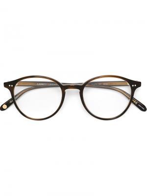 Очки и Оправы Garrett Leight. Цвет: коричневый