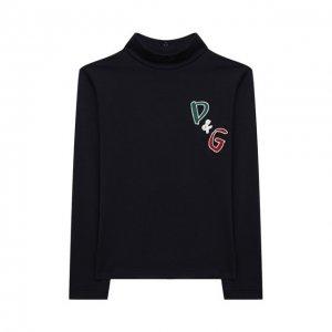 Хлопковая водолазка Dolce & Gabbana. Цвет: синий