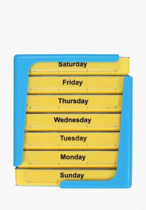Таблетница Homsu 7 блоков. Цвет: желтый