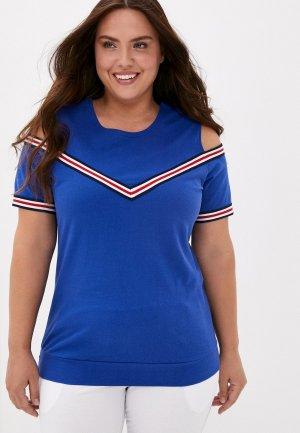 Блуза El Fa Mei. Цвет: синий