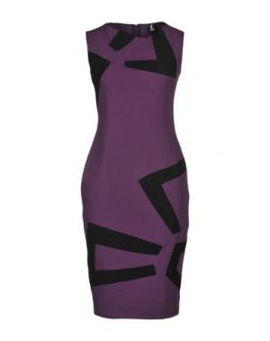 Платье до колена 1-ONE. Цвет: фиолетовый