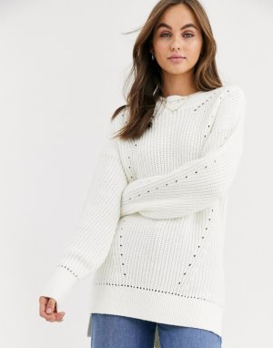 Oversize-свитер с высоким воротником -Кремовый Abercrombie & Fitch