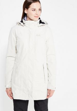 Куртка утепленная Jack Wolfskin MADISON AVENUE COAT. Цвет: белый