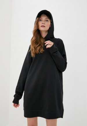Платье Nike W NSW ESSNTL FLC DRESS. Цвет: черный