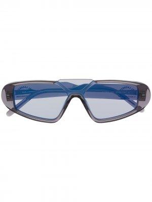 Солнцезащитные очки Rue St-Guillaume Mask Karl Lagerfeld. Цвет: серый